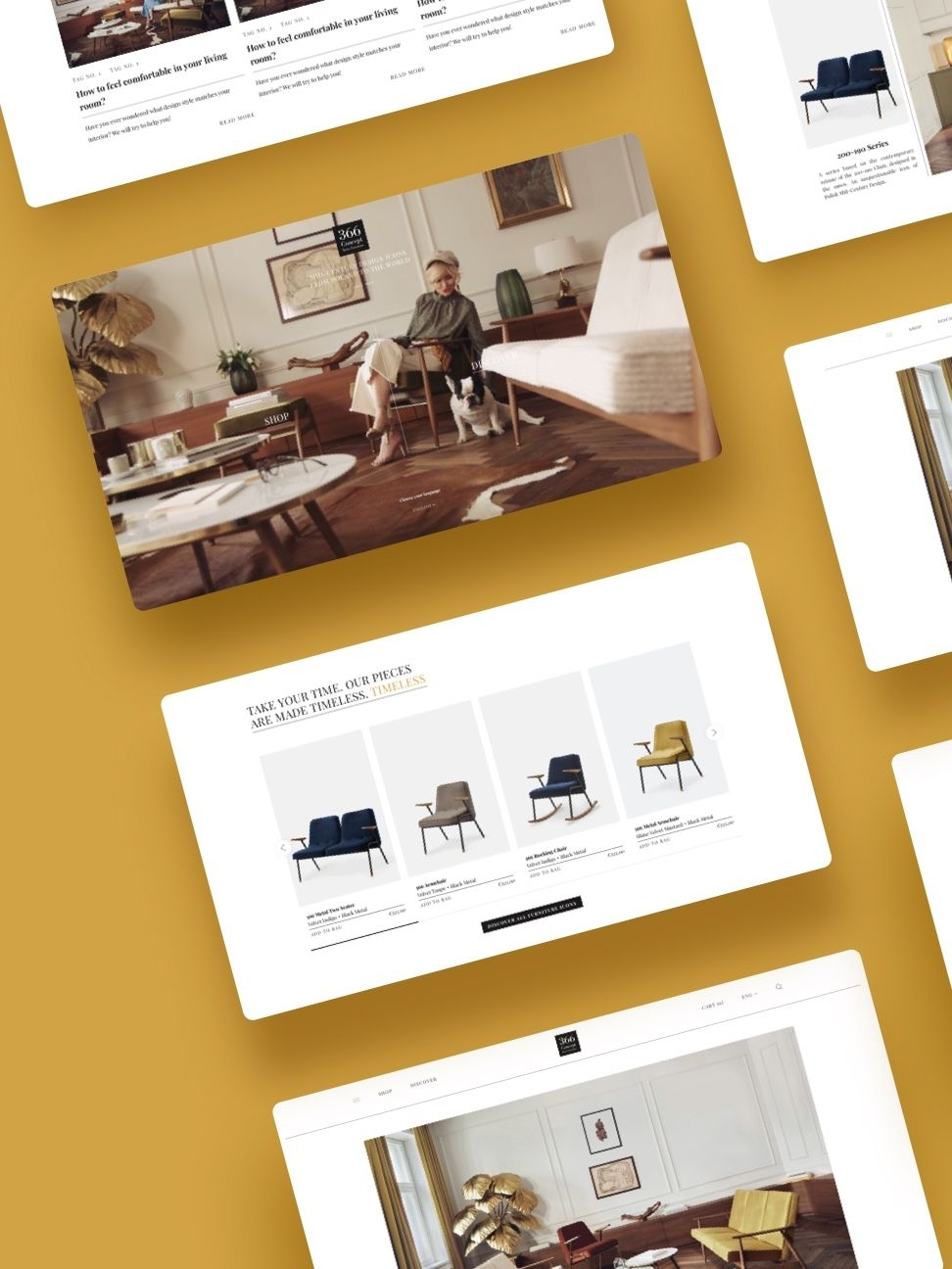 Exquisite web design for a classy furniture brand